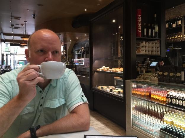 Randy at Gran Caffe L'Aqila
